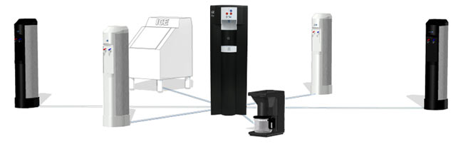 Connect Water Station III to Coffee Makers, Ice Machines and other Water Stations